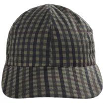 Larry Checkered British Millerain Wax Cotton Earflap Baseball Cap alternate view 2