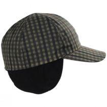 Larry Checkered British Millerain Wax Cotton Earflap Baseball Cap alternate view 4