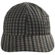 Larry Checkered British Millerain Wax Cotton Earflap Baseball Cap alternate view 7