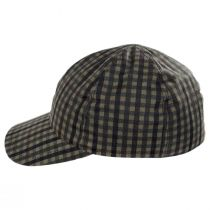 Larry Checkered British Millerain Wax Cotton Earflap Baseball Cap alternate view 8