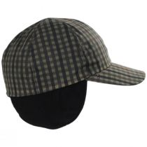 Larry Checkered British Millerain Wax Cotton Earflap Baseball Cap alternate view 14