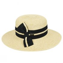 Claudine Toyo Braid Boater Hat alternate view 2