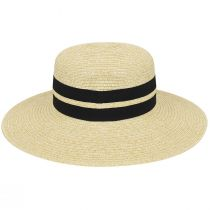 Claudine Toyo Braid Boater Hat alternate view 3