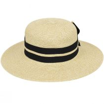 Claudine Toyo Braid Boater Hat alternate view 4