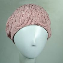 Gabby Cotton Knit Pointelle Beret alternate view 7