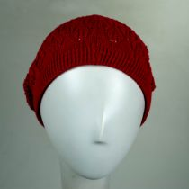 Gabby Cotton Knit Pointelle Beret alternate view 10