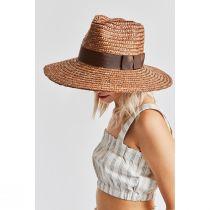 Joanna Copper Wheat Straw Fedora Hat alternate view 4