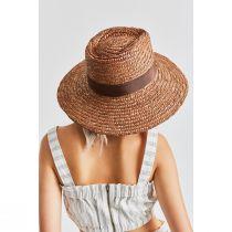 Joanna Copper Wheat Straw Fedora Hat alternate view 5