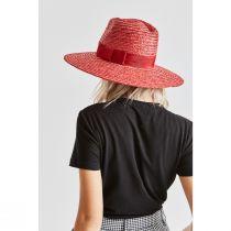 Joanna Red Wheat Straw Fedora Hat alternate view 5