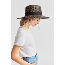Joanna Blackwash Wheat Straw Fedora Hat alternate view 3