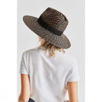 Joanna Blackwash Wheat Straw Fedora Hat alternate view 4