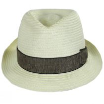 Luigi Toyo Straw Fedora Hat alternate view 10