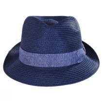 Luigi Toyo Straw Fedora Hat alternate view 2