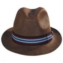 Orleans Brown Toyo Straw Fedora Hat alternate view 2