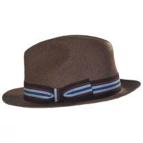 Orleans Brown Toyo Straw Fedora Hat alternate view 3