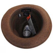 Orleans Brown Toyo Straw Fedora Hat alternate view 4