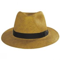 Cannes Toffee Toyo Straw Fedora Hat alternate view 2