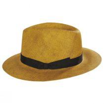 Cannes Toffee Toyo Straw Fedora Hat alternate view 3