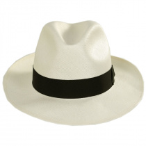 Nice Shantung Straw Fedora Hat alternate view 2
