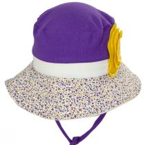 Kids' Eco Purple Cotton Blend Sun Hat alternate view 2