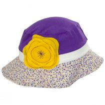 Kids' Eco Purple Cotton Blend Sun Hat alternate view 3