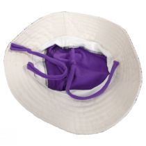 Kids' Eco Purple Cotton Blend Sun Hat alternate view 4
