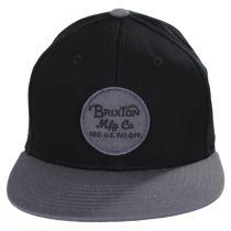 Wheeler Snapback Baseball Cap - Black/Charcoal alternate view 2