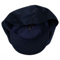 Holmes Navy Blue Linen Newsboy Cap alternate view 4
