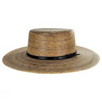 Palm Straw Boater Hat alternate view 2