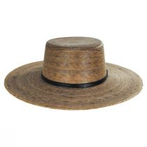 Palm Straw Boater Hat alternate view 3