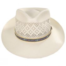 Mondrian Handwoven Shantung Straw Fedora Hat alternate view 2
