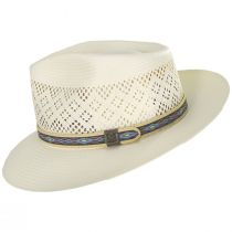 Mondrian Handwoven Shantung Straw Fedora Hat alternate view 3