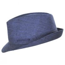 Linen Delave Trilby Fedora Hat alternate view 7