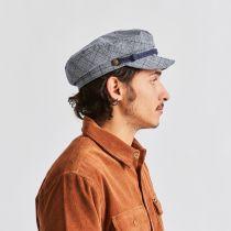 Plaid Linen and Cotton Blend Fiddler Cap alternate view 6