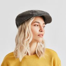Brood Lightweight Wool Blend Tweed Newsboy Cap alternate view 17