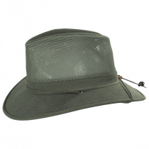 Mesh Cotton Aussie Fedora Hat alternate view 3