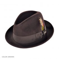 Blues Crushable Wool Felt Trilby Fedora Hat alternate view 50