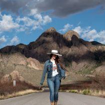 Desert Sky Shantung Straw Planter Hat alternate view 7