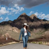 Desert Sky Shantung Straw Planter Hat alternate view 23