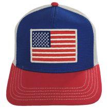 US Flag Mesh Trucker Snapback Baseball Cap alternate view 2