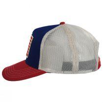 US Flag Mesh Trucker Snapback Baseball Cap alternate view 3