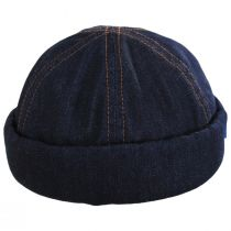 Texas Denim Skull Cap Beanie Hat alternate view 2