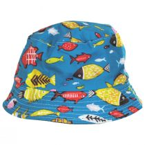 Kids' Fish Reversible Cotton Bucket Hat alternate view 2