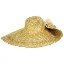 Side Button Braided Straw Swinger Hat alternate view 2