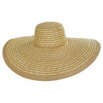 Striped Braided Straw Wide Brim Swinger Hat alternate view 2