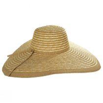 Striped Braided Straw Wide Brim Swinger Hat alternate view 3
