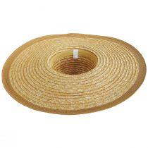 Striped Braided Straw Wide Brim Swinger Hat alternate view 4