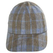 Angel Plaid Six-Panel Linen Fitted Baseball Cap alternate view 2