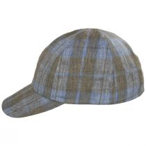 Angel Plaid Six-Panel Linen Fitted Baseball Cap alternate view 3