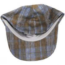 Angel Plaid Six-Panel Linen Fitted Baseball Cap alternate view 4
